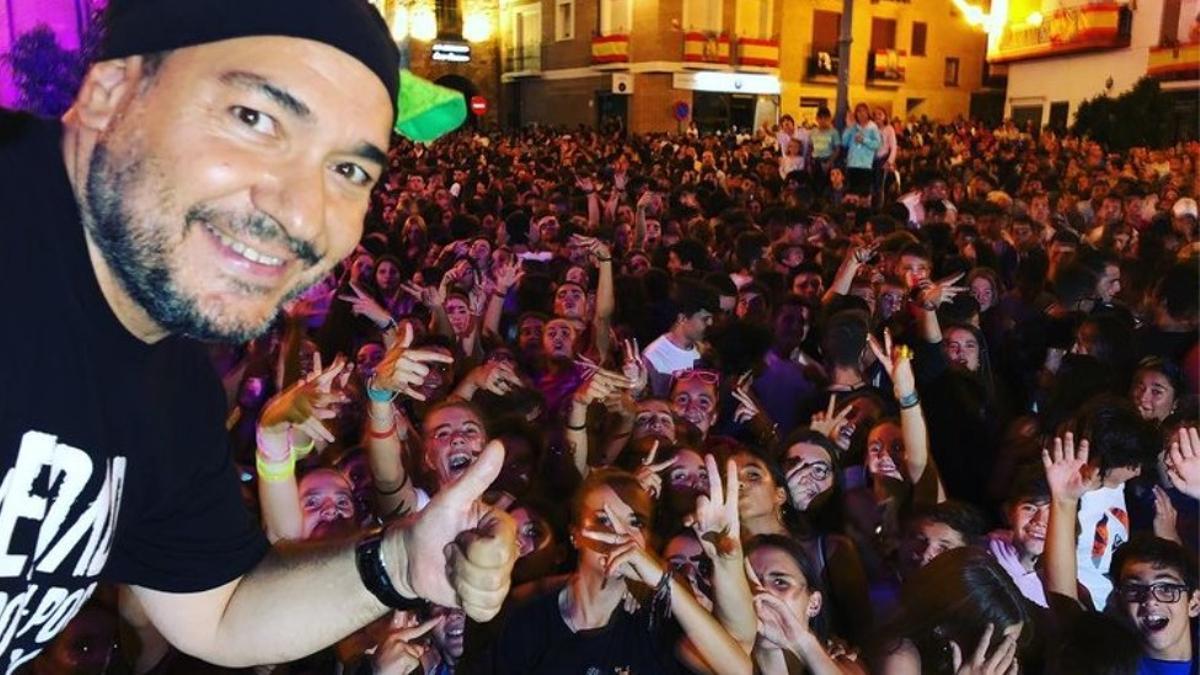 DJ Pulpo, en una de sus actuaciones