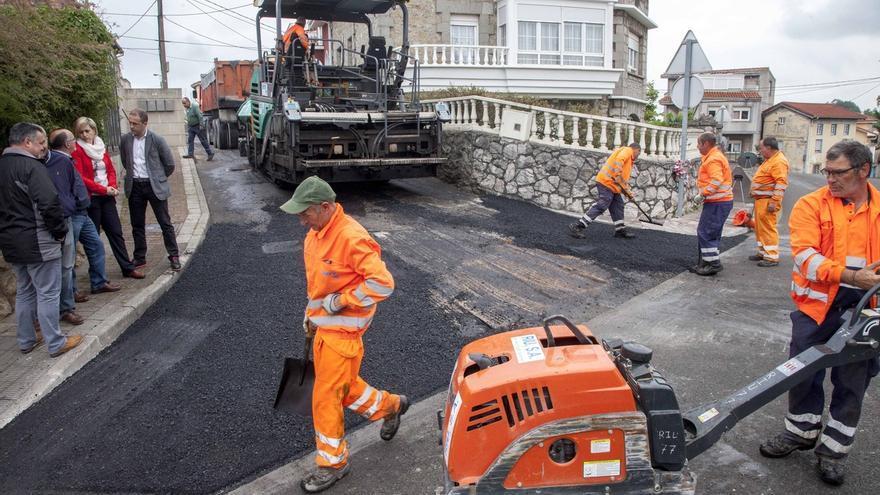 Comienzan las obras de asfaltado de tres calles de Maliaño, Herrera y Cacicedo