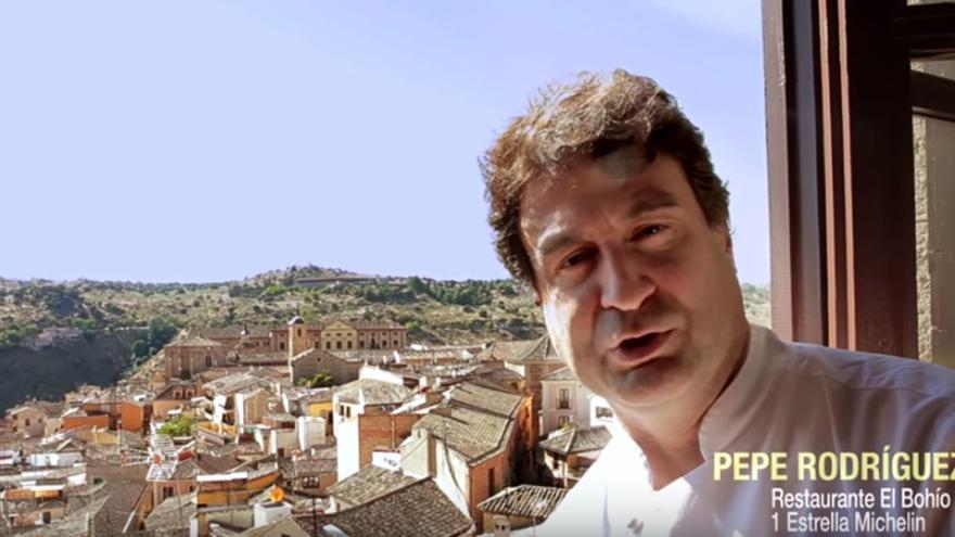 El chef Pepe Rodríguez en el vídeo de Toledo Capital Gastronómica 2016