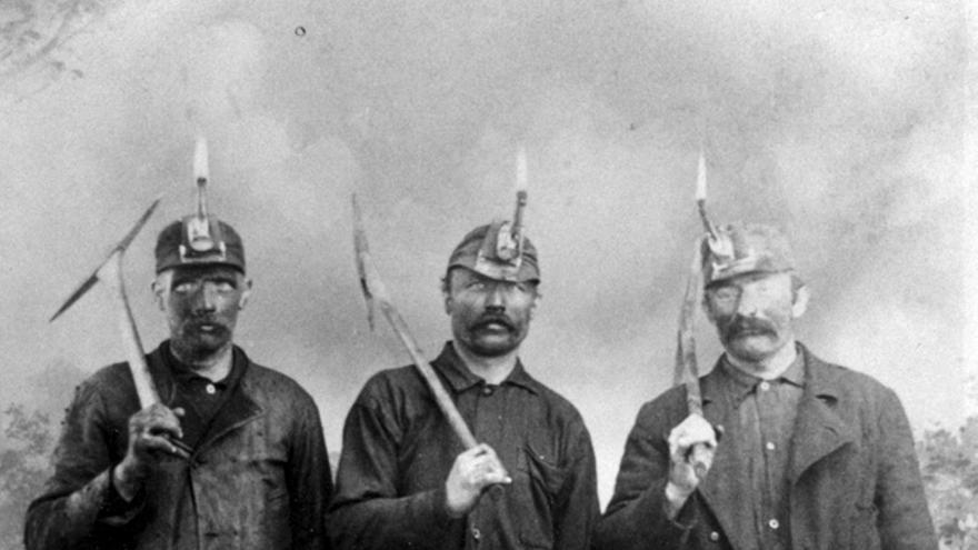 Mineros suecos de finales del XIX