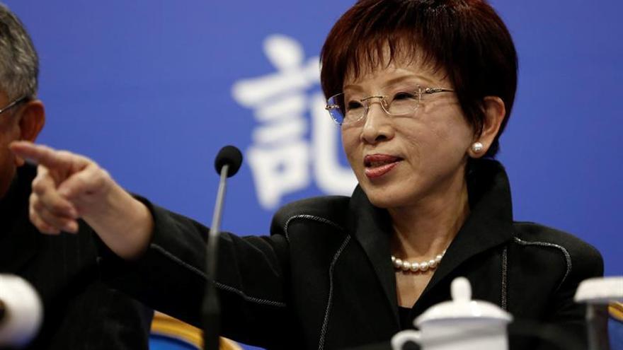 La líder de Kuomintang dice a Xi que contrarrestará el independentismo de Taiwán