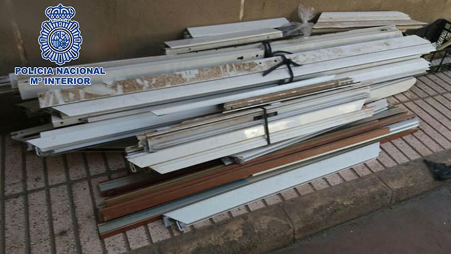 Detenido tras sustraer de una obra material de aluminio valorado en 78.000 euros