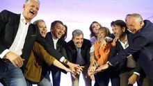 Candidatos y candidatas de Coalición Canaria antes del arranque de la campaña del 26 de mayo.