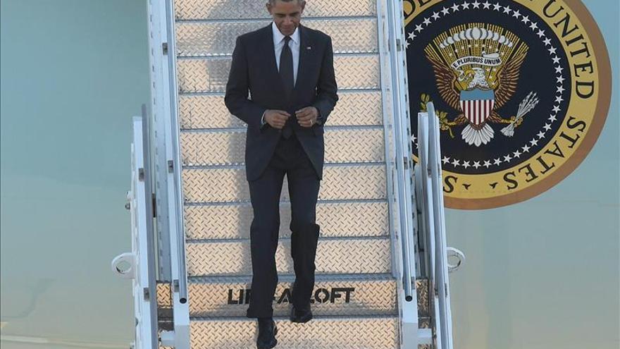 Obama llega a Brisbane para participar en la cumbre del G20