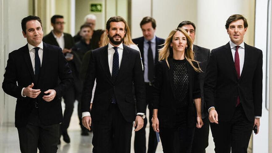 Altos cargos del PP con su presidente, secretario general y portavoces. Flickr-PP