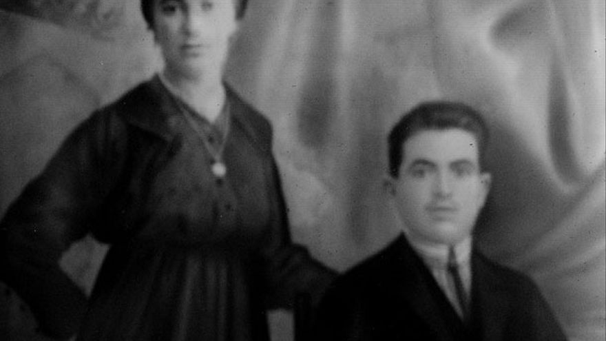 Timoteo Mendieta y su esposa, María