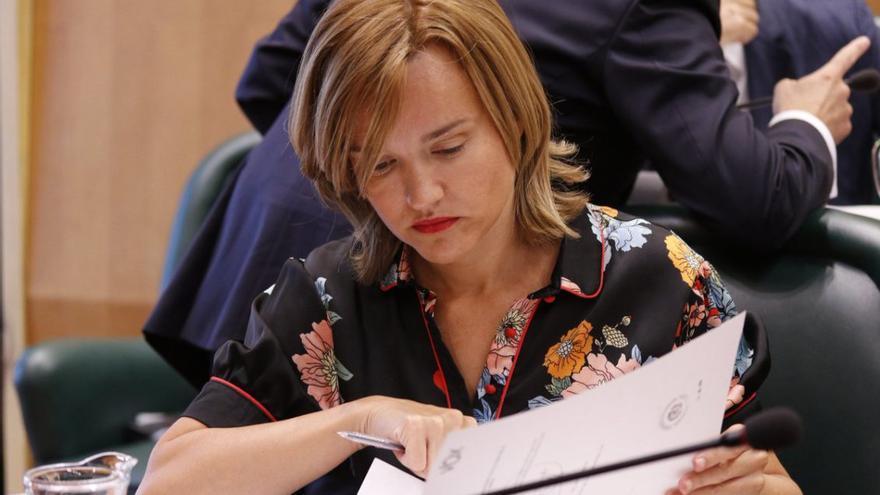 Pilar Alegría, portavoz del PSOE en el Ayuntamiento de Zaragoza.