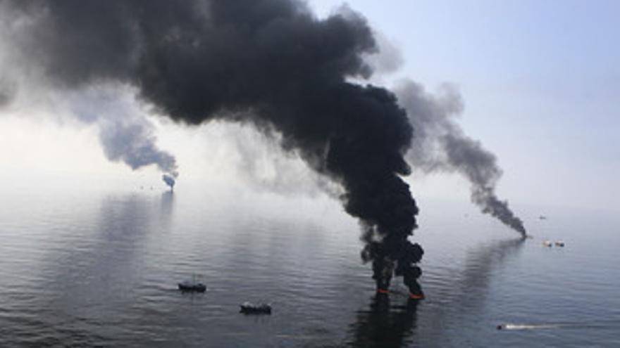 Vertido de petróleo en el Golfo de México