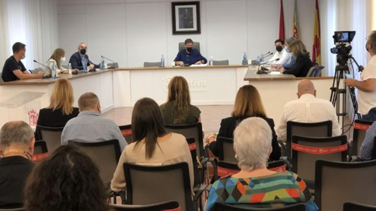 Pleno del Ayuntamiento de Xàtiva.