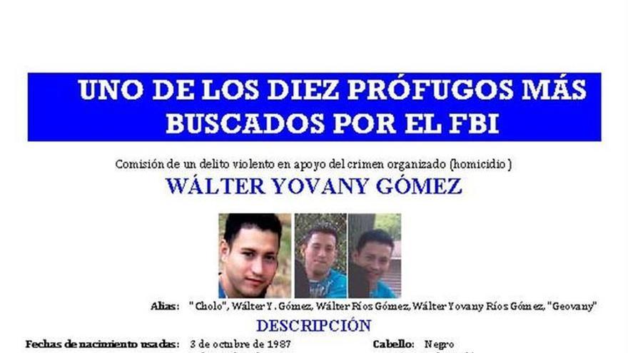El FBI agrega a un pandillero hondureño a su lista de los 10 más buscados