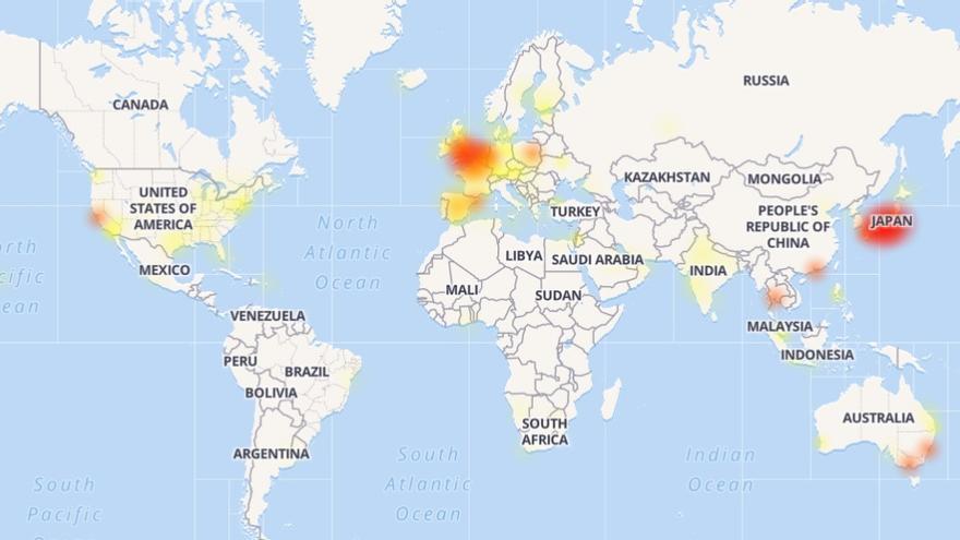 En rojo, los países que más fallos han experimentado