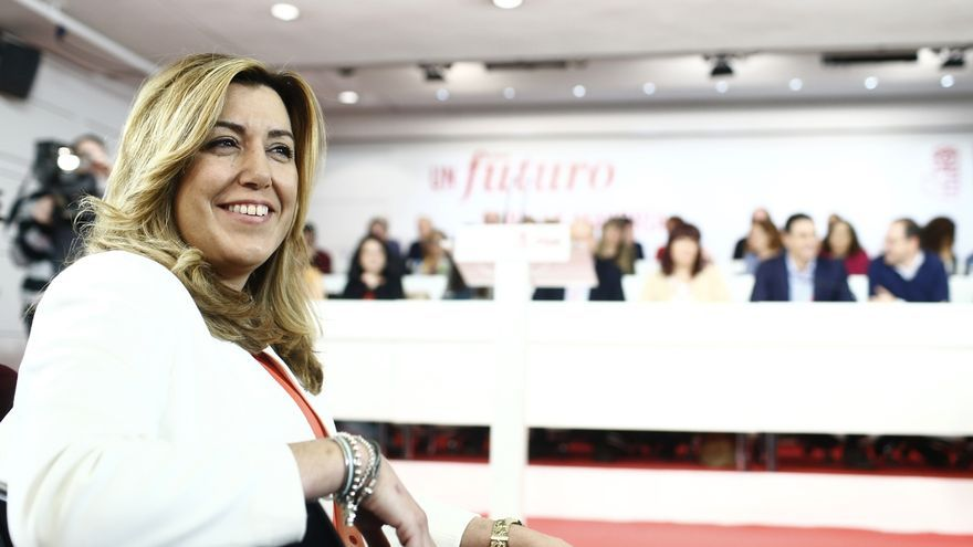 """Susana Díaz rechaza """"lecciones"""" de Pablo Iglesias y critica """"querer presidir un país que se está dispuesto a romper"""""""