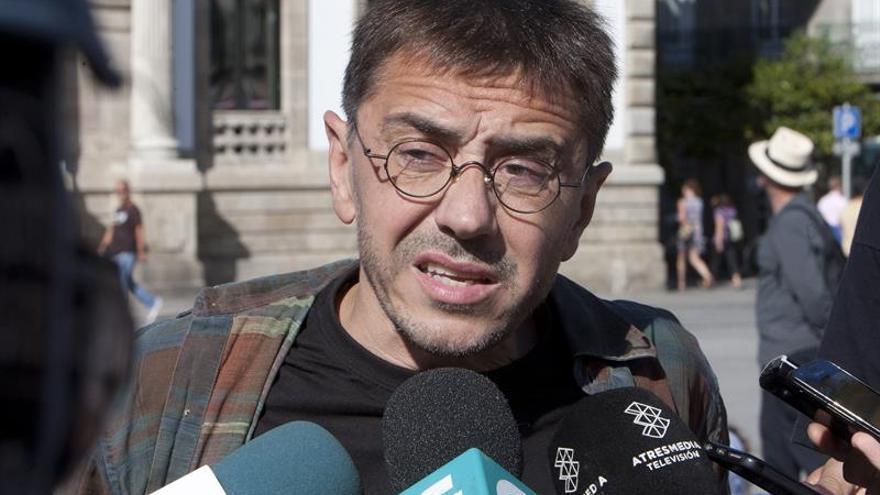 """Monedero critica el inmovilismo de PP y """"huida hacia adelante"""" de la Generalitat"""