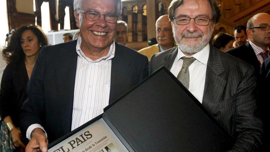 Felipe González y Juan Luis Cebrián en una imagen de archivo