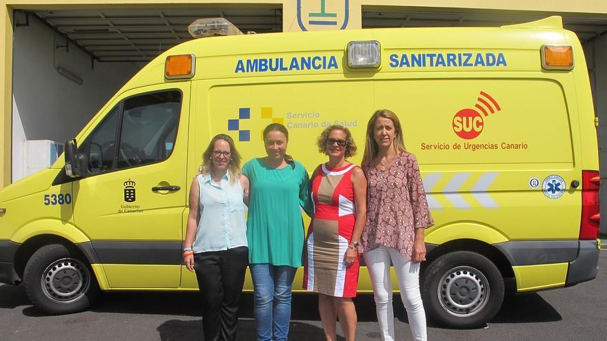 Acto simbólico de la nueva sede de la ambulancia.