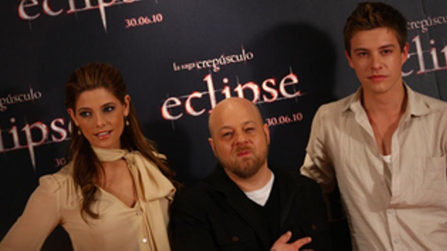 Presentación de Eclipse con Ashley Green, Xavier Samuel y el director David Slad