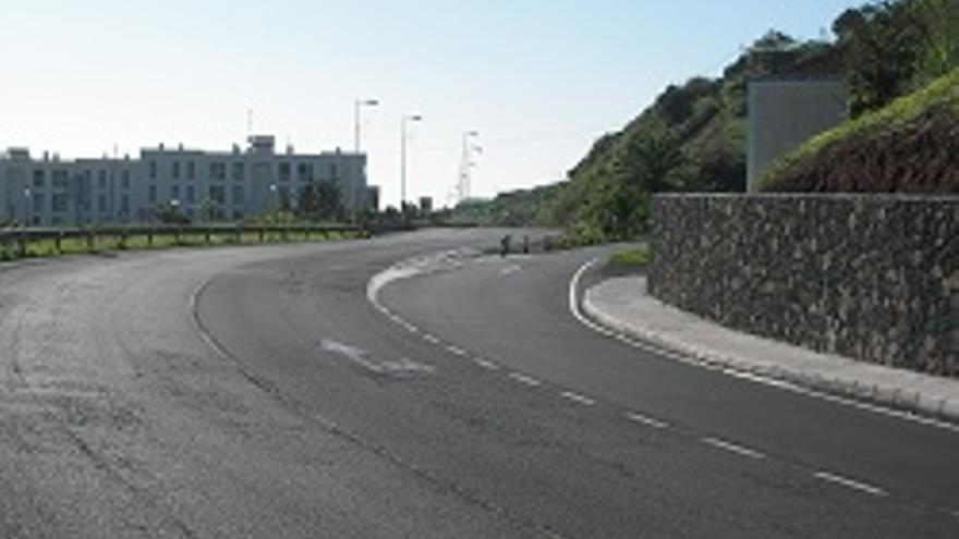Carril de desaceleración de Puntallana.