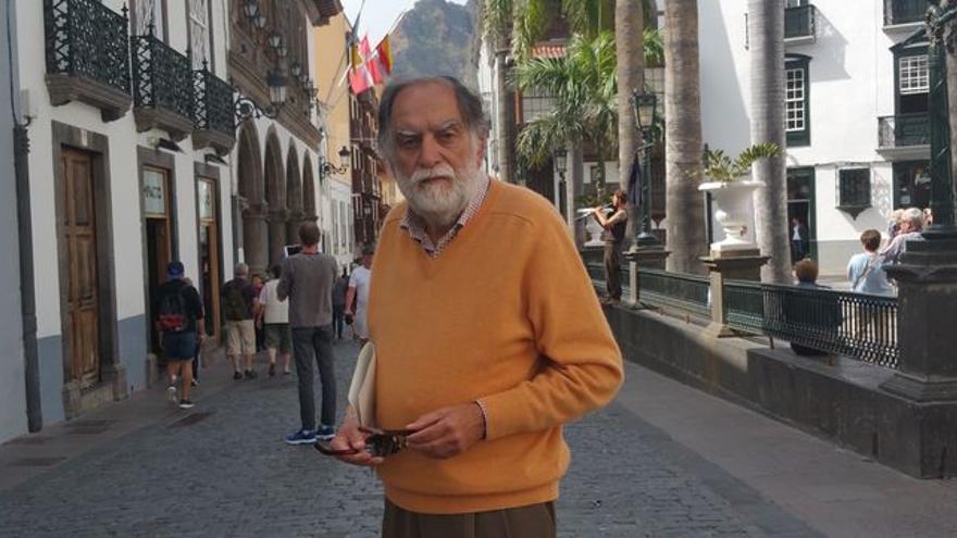 Luis Martín Herrera es presidente de la Asociación de Amigos del País de Santa Cruz de La Palma. Foto: LUZ RODRÍGUEZ.