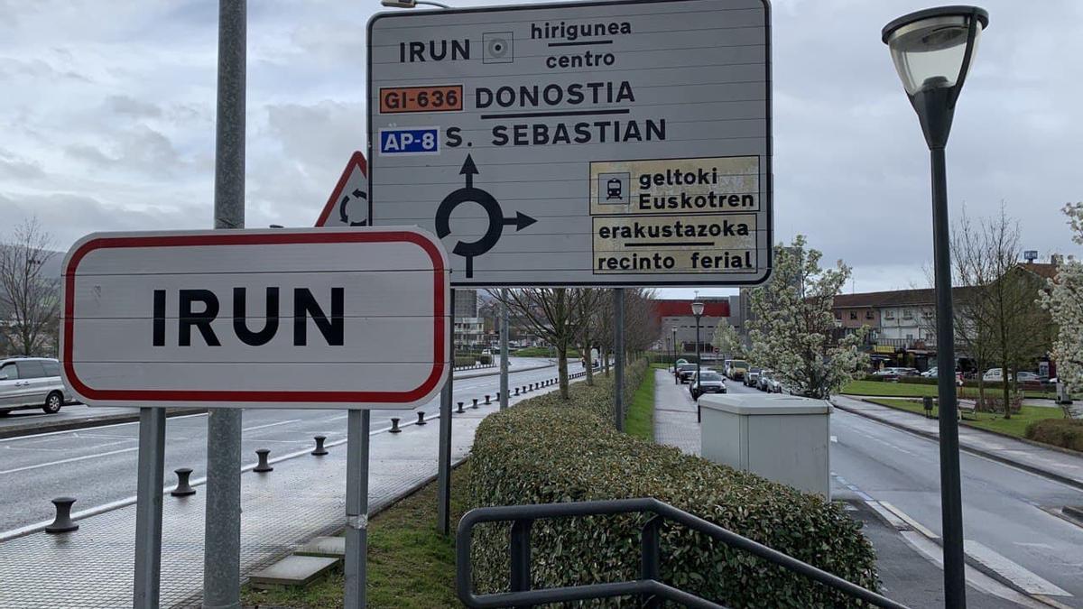 Una entrada al municipio de Irún