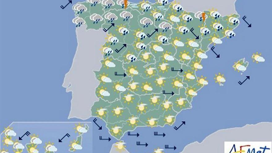 Hoy, temperaturas significativamente altas en Levante