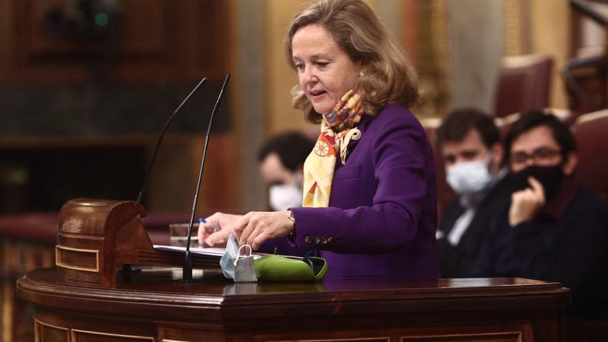 La vicepresidenta Tercera del Gobierno, Nadia Calviño.