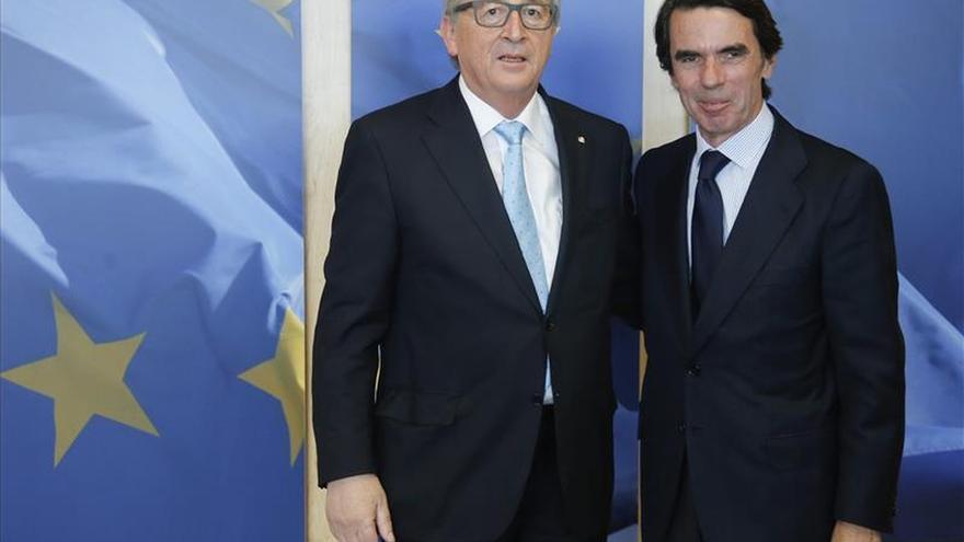 El presidente de la Comisión Europea recibe a José María Aznar