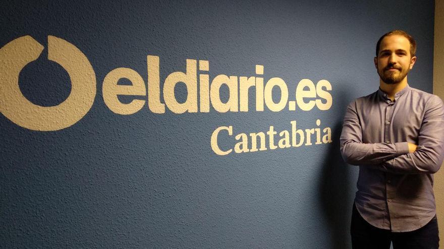 Luis del Piñal, candidato de Unidas Podemos al Congreso por Cantabria. | R.A.