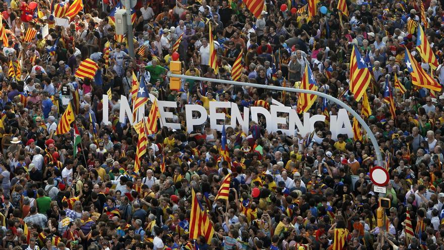 Un 57% de catalanes votaría a favor de la independencia, según la Generalitat