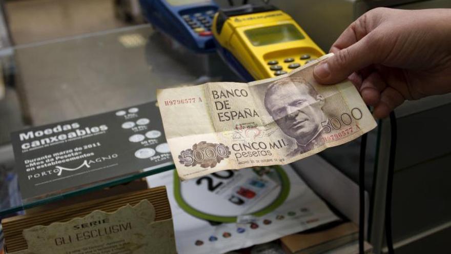Los españoles conservan aún sin canjear 1.675 millones de euros en pesetas