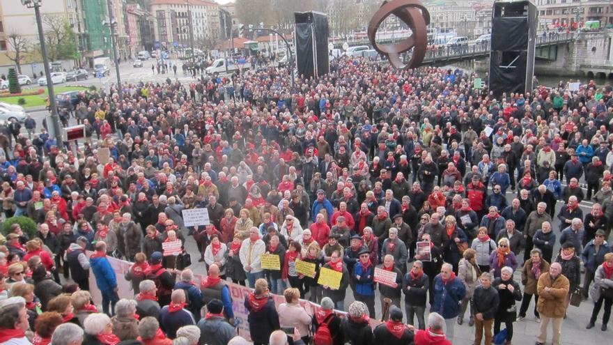 Pensionistas de Bizkaia se manifestarán el 15 de enero en Bilbao, primer aniversario del inicio de las protestas.