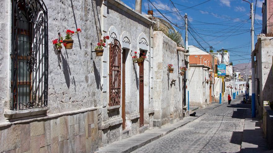 Calles de Yanahuara, uno de los antiguos barrios históricos de la ciudad de Arequipa. VIAJAR AHORA