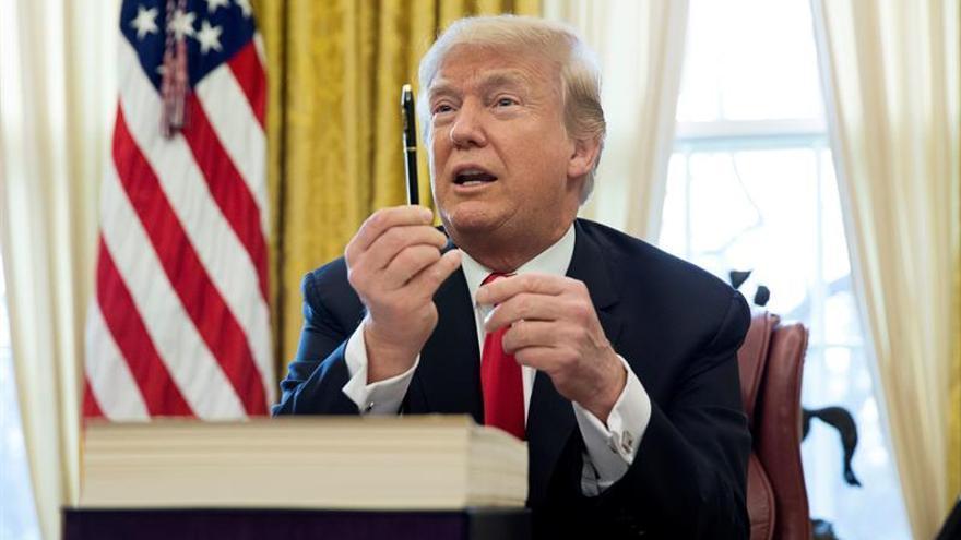 En la imagen, el presidente estadounidense, Donald Trump, en una imagen de archivo