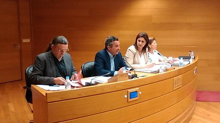 El exdirector de RTVV Pedro García durante su comparecencia en las Corts