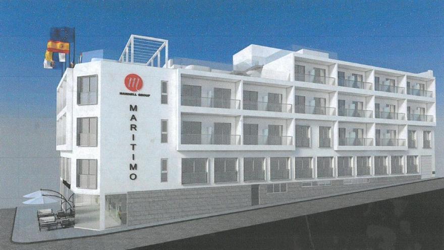 Recreación de la reforma del Hotel Marítimo.