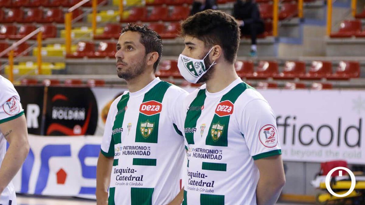 Caio César y Lucas Perin, antes de un partido en Vista Alegre.