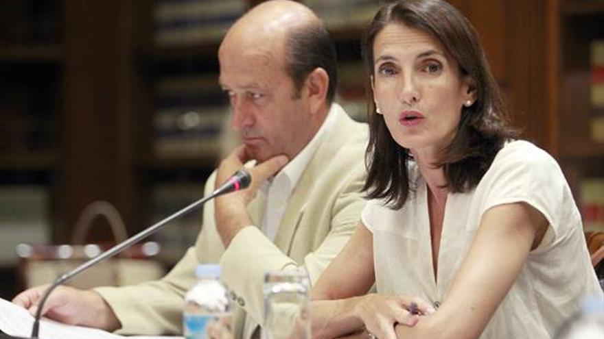 María Teresa Lorenzo, hoy en el Parlamento de Canarias (EFE)