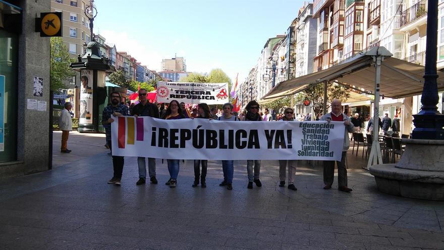 Imagen de archivo de una manifestación en favor de la República en Santander.