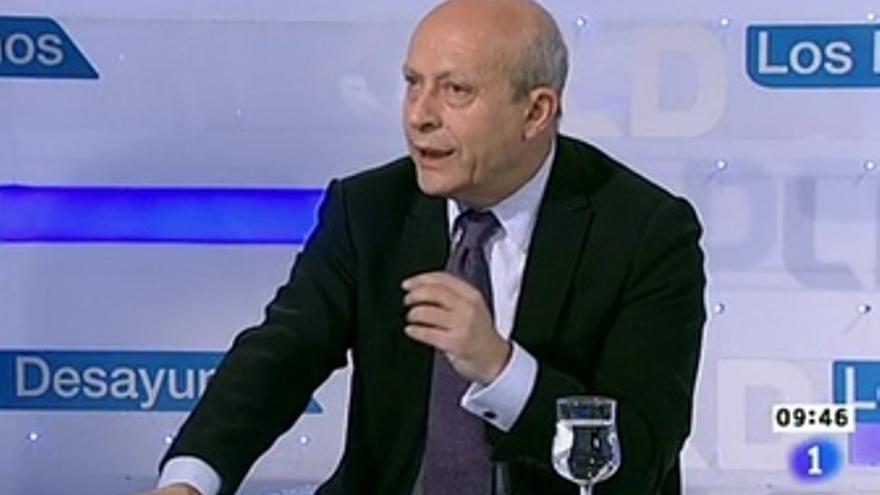 El ministro de Educación, Cultura y Deporte, José Ignacio Wert en Los Desayunos
