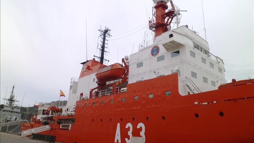"""El buque de la Armada española """"Hespérides"""" hace una escala en Buenos Aires"""