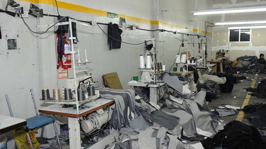 Un taller ilegal denunciado en la ciudad de Buenos Aires. / Fund. La Alameda