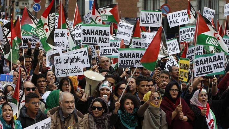 """Centenares de personas se manifiestan en Madrid por un """"Sáhara libre"""""""