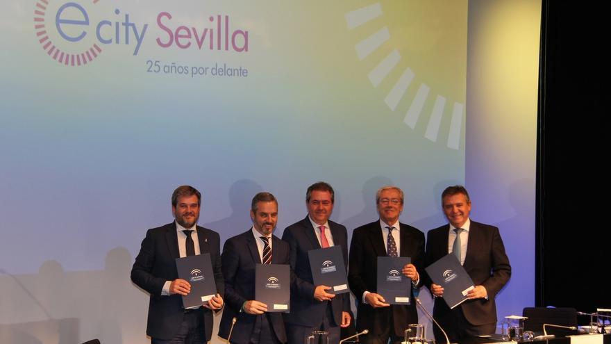 Junta, Ayuntamiento, PCT Cartuja y Endesa firman protocolo para materializar el proyecto #eCitySevilla en 2025