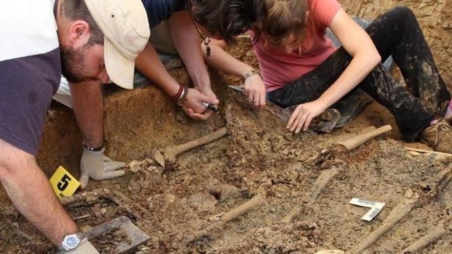 Exhumación de una fosa