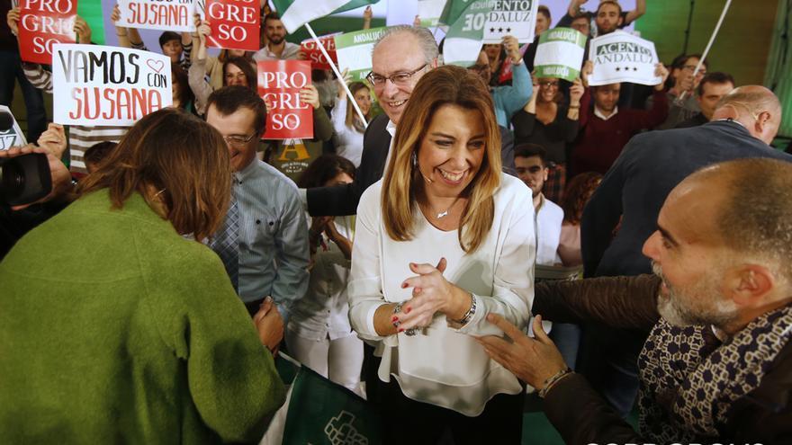 Mitin de Susana Díaz en el Palacio de Congresos | ÁLEX GALLEGOS