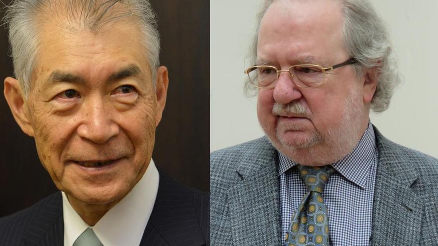 Tasuku Honjo (izquierda) y James P. Allison, Nobel de Medicina 2018
