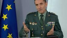El general Fernando Santiago en una de las ruedas de prensa del comité técnico del coronavirus.