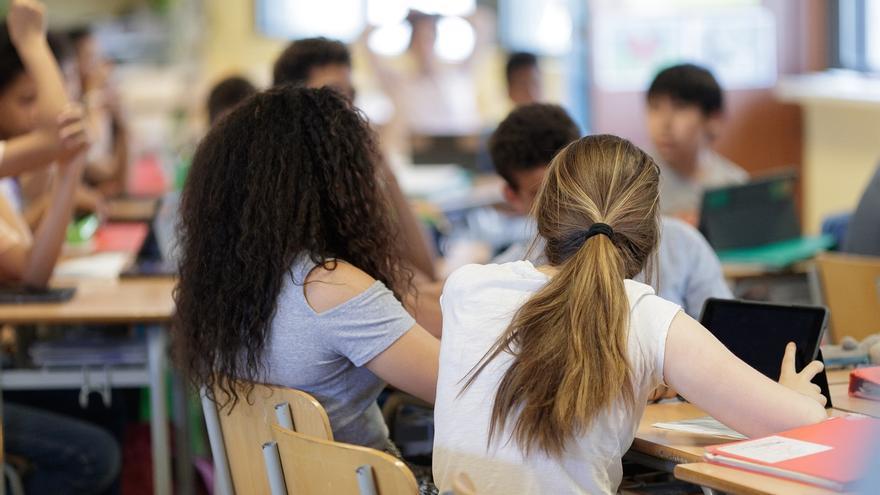 Alumnas, en un centro educativo.