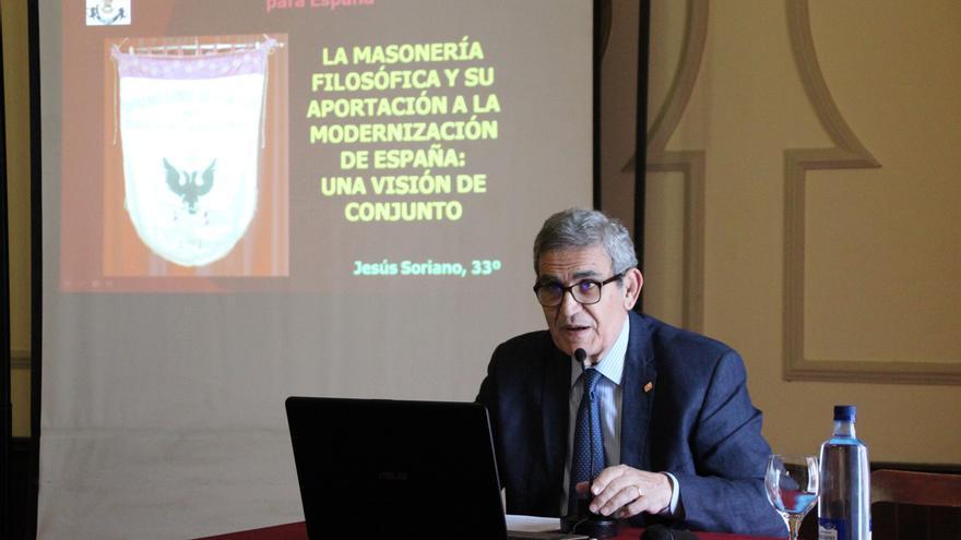 Jesús Soriano durante la conferencia.