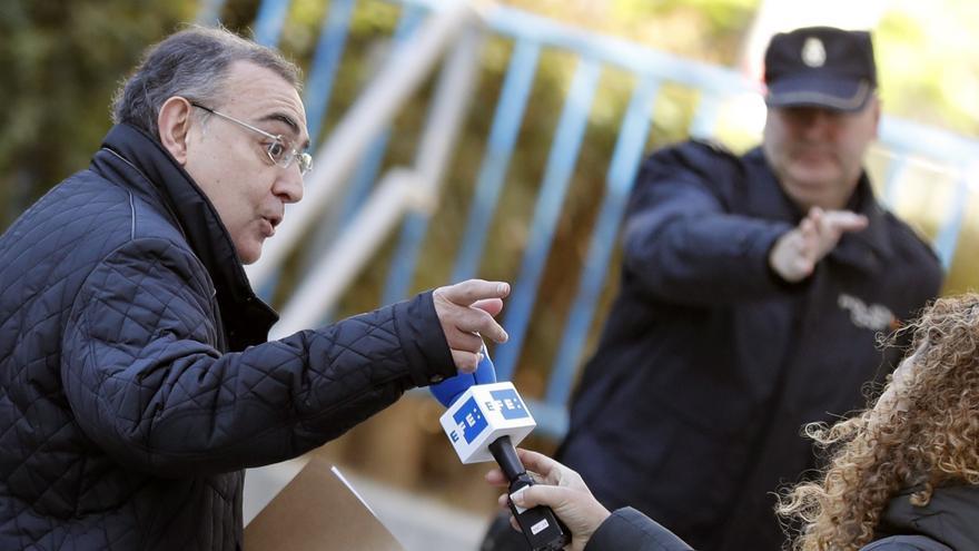 El comisario García Castaño, El Gordo, a su llegada a la Audiencia Nacional