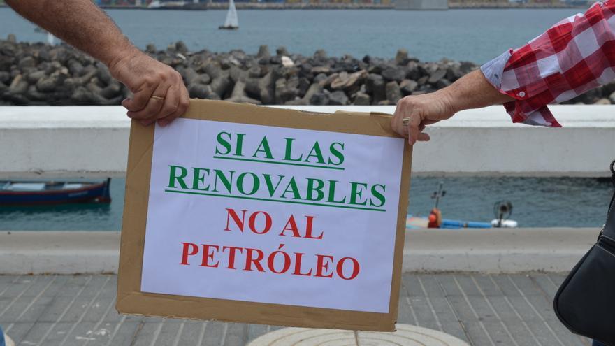 Cartel reivindicativo en la protesta de Las Palmas de Gran Canaria. Sí o Sí Comunicación.